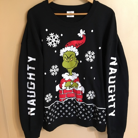 The Grinch Sweaters Naughty Light Up Ugly Christmas Sweater Poshmark